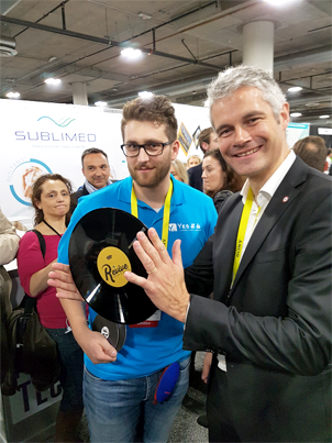 image de Wauquiez & d'un membre de la start-up Yes It Is